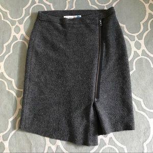 Sparrow Anthropologie sweater Moto skirt